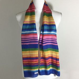 "Runway Striped Fashion Scarf 12"" x 53"""